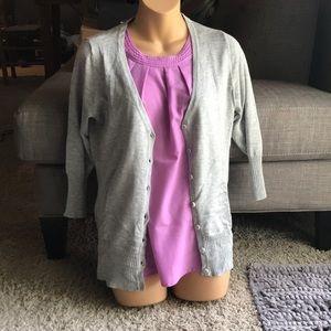 NWT Maurice's v neck gray cardigan